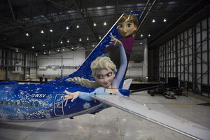 Frozen Themed Plane