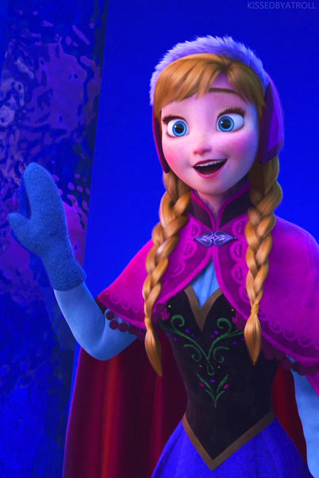 Frozen phone wallpaper - Elsa and Anna