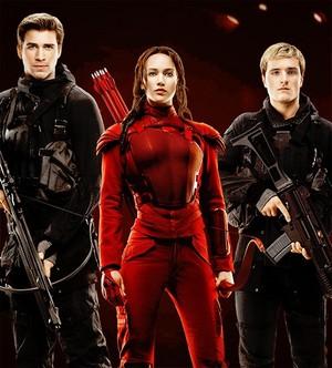 Gale, Katniss, and Peeta