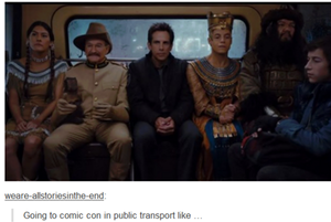 Going to comic con in public transport like...