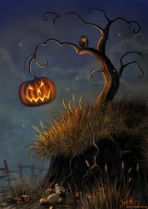 halloween pohon
