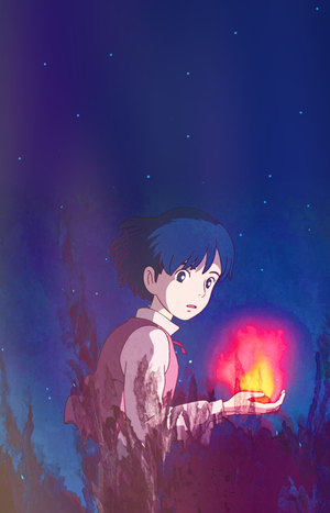 Howl's Moving château - Howl phone background