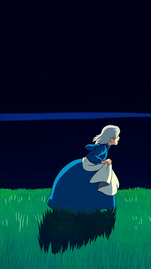 Howl's Moving istana, castle phone background