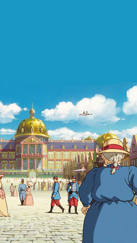 Howl and Sophie wallpaper possibly containing a street titled Howl's Moving Castle phone background