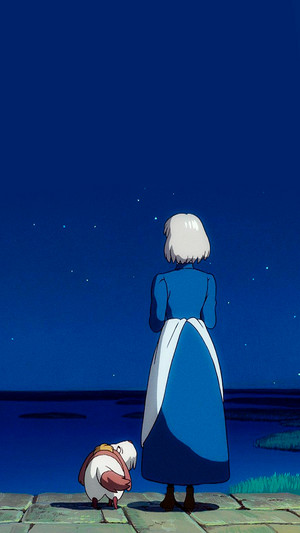 Howl's Moving château phone background