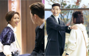 """Hwang Jung Eum and Park Seo Joon Are Sweet Behind the Scenes Of """"She Was Pretty"""""""
