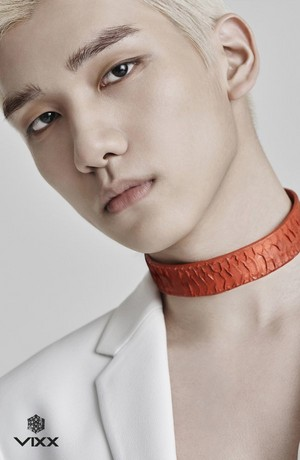 Hyuk's teaser image for ''Chained Up''