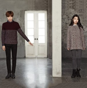 IU and Lee Hyun Woo for UNIONBAY Winter 2015
