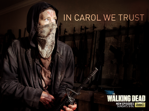 The Walking Dead karatasi la kupamba ukuta entitled In Carol We Trust