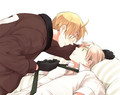 In the bed - hetalia-couples photo