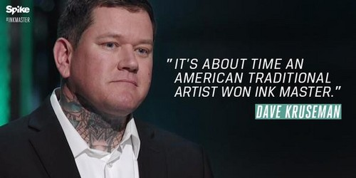 Ink Master wallpaper with a business suit titled Ink Master | Dave Kruseman Wins Season 6