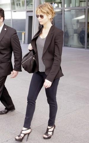 Jennifer Lawrence walking