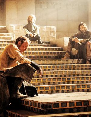 Jorah, Daario and Tyrion