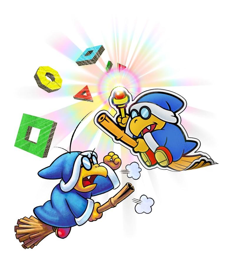 Kamek And Paper Kamek Mario And Luigi Paper Jam Mario