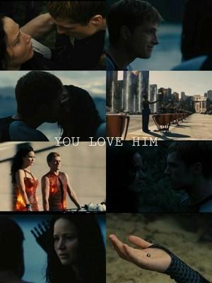 Katniss/Peeta Fanart - あなた 愛 Him