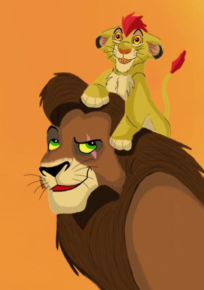 Kovu and Kion