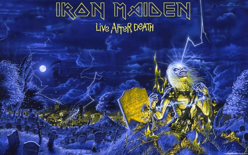 Iron Maiden پیپر وال entitled LIVE AFTER DEATH