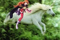 Lina Inverse rides a Beautiful Unicorn