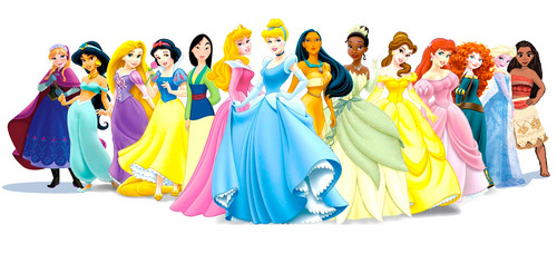 Disney Princess wallpaper titled Lineup with Moana