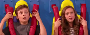 "Little Max and Phoebe on ""Thunderman The Ride"""