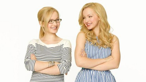 Liv and Maddie fond d'écran probably containing a cocktail dress, a chemise, and a bustier entitled Liv and Maddie