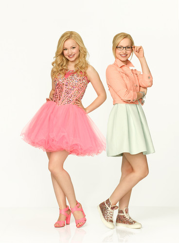 Liv and Maddie দেওয়ালপত্র probably with a ককটেল dress, a gathered skirt, and a ফ্রক titled Liv and Maddie