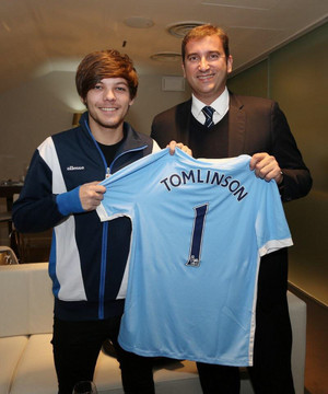 Louis at the Manchester vs Newcastle Game