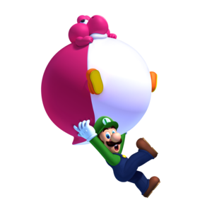 Luigi and Balloon Yoshi