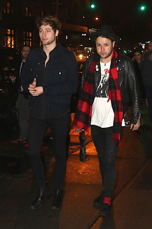 Luke arriving at KJ Party