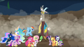 MLP Fanart Discord and His Friends - discord-my-little-pony-friendship-is-magic fan art