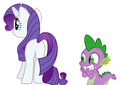 MLP Fanart Spike Excited Over Rarity s Butt