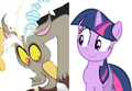 MLP Fanart Twilight Sparkle and Discord - discord-my-little-pony-friendship-is-magic fan art