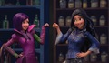 Mal and Evie in the Animated show: Disney's Descendants' Wicked World