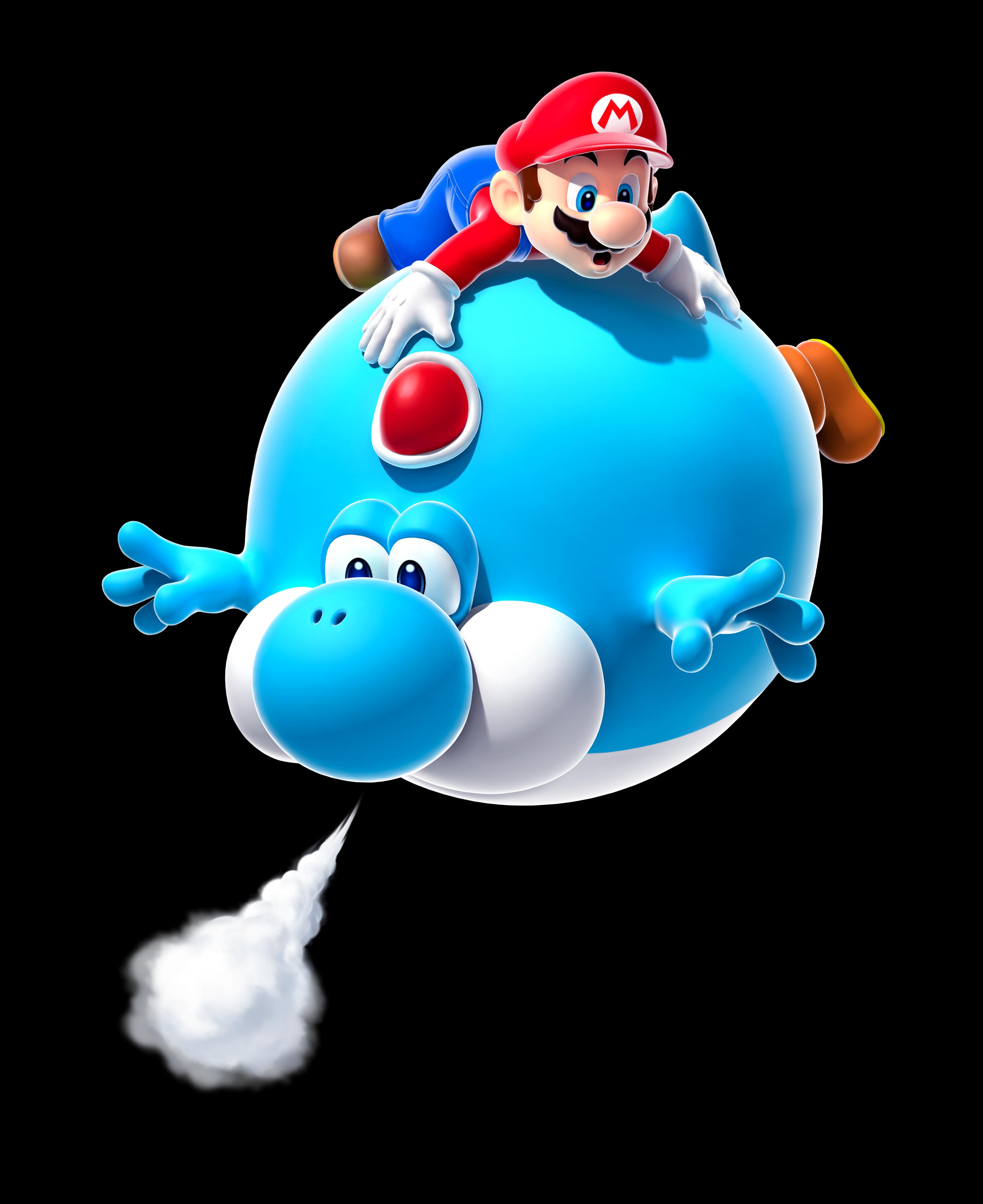 Mario and Blimp Yoshi