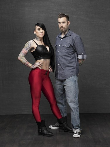 Ink Master wallpaper with tights and a legging called Marisa De LaRen vs. Erik Campbell | Season 6