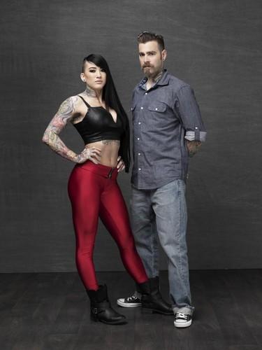 Ink Master wallpaper containing tights and a legging entitled Marisa De LaRen vs. Erik Campbell | Season 6