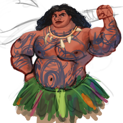 Disney's Moana Hintergrund possibly with a surcoat, wappenrock and a kirtle entitled Maui