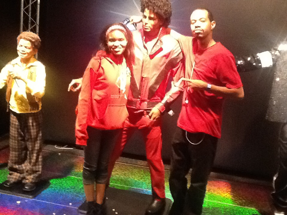 Me and my brother with thriller Mike at the Ripley's museum