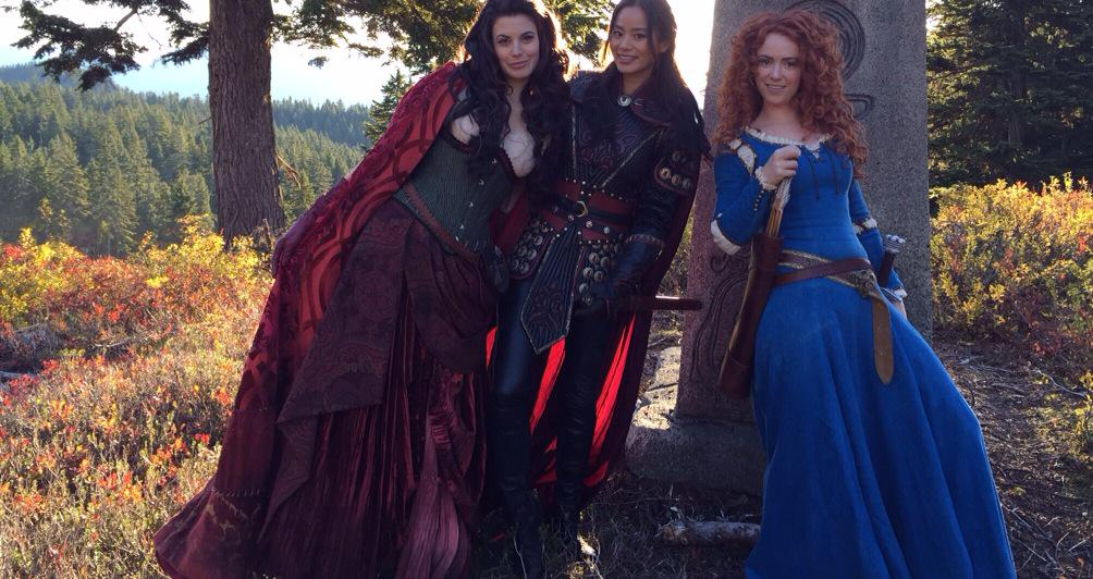 Merida, Red and Mulan