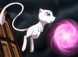 Mew use Aura Sphere on Pokemon