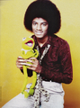 Michael Jackson - HQ Scan - Michael and Kermit the frog Photosession - michael-jackson photo