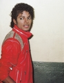 Michael Jackson - HQ Scan - On the set of Beat it - michael-jackson photo