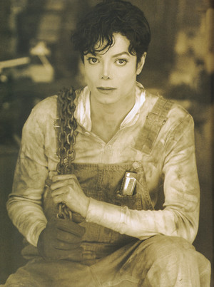 Michael Jackson - HQ Scan - Photosession দ্বারা Jonathan Exley