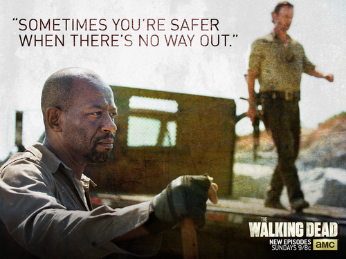 The Walking dead wallpaper containing a sign called morgan Jones