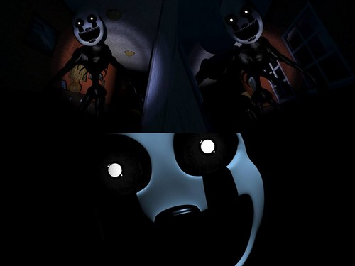 Five Nights at Freddy's kertas dinding possibly with an internal combustion engine called Nightmare puppet
