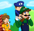 Off to a Family Picnic~ - luigi fan art