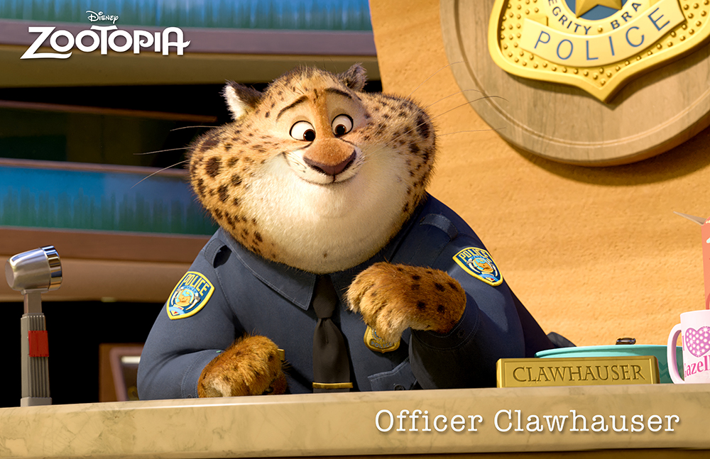 Officer Clawhauser - Zootopia