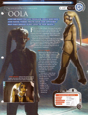 Oola stella, star Wars Fact File Page 1