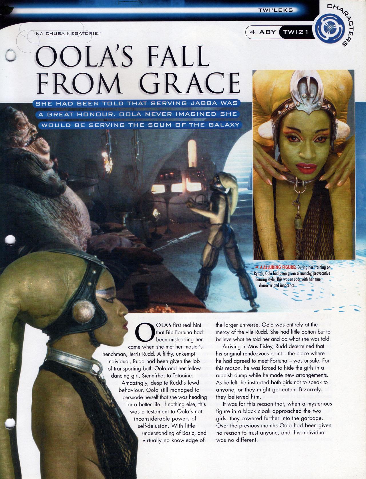 Oola 별, 스타 Wars Fact File Page 3