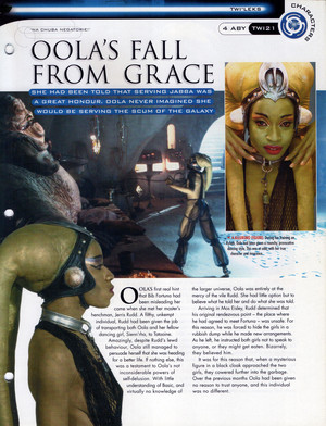 Oola étoile, star Wars Fact File Page 3